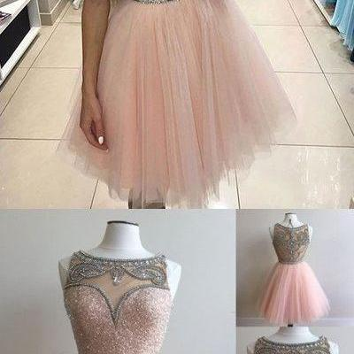 Halter Cocktail Dresses,Pink Tulle ..