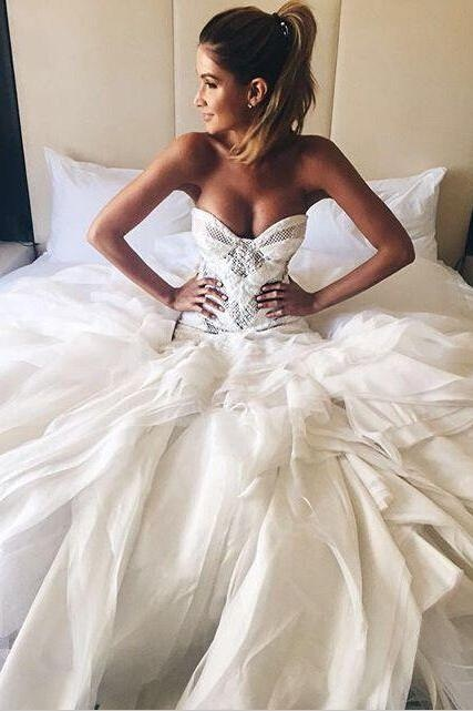 Tulle Wedding Dresses,Sweetheart Wedding Gown,Princess Wedding Dresses, Elegant Wedding Dresses, Ball Gowns Wedding Dresses,Charming Wedding Dresses, Wedding Dresses
